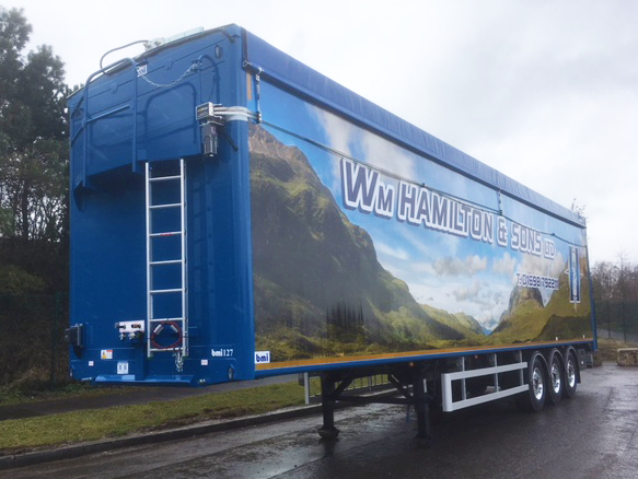 Wm Hamilton & Sons bmi Walking Floor trailer