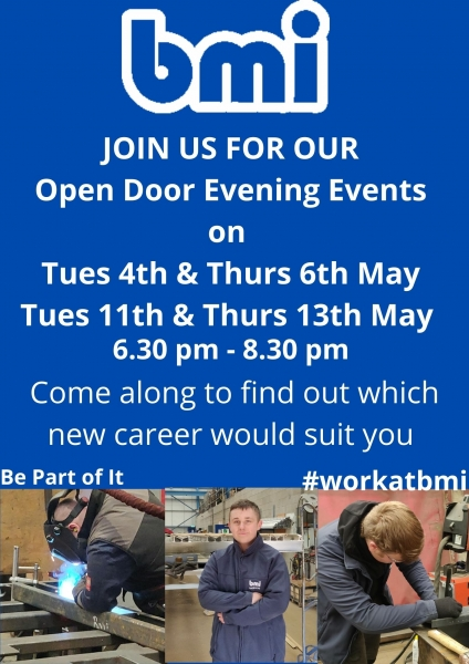 Open Door evenings at bmi trailers