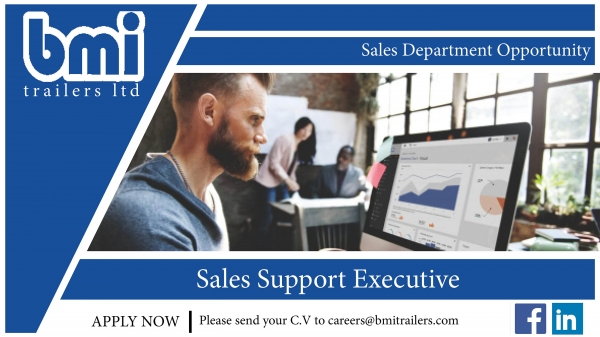 Join our Sales team as our Sales support Executive