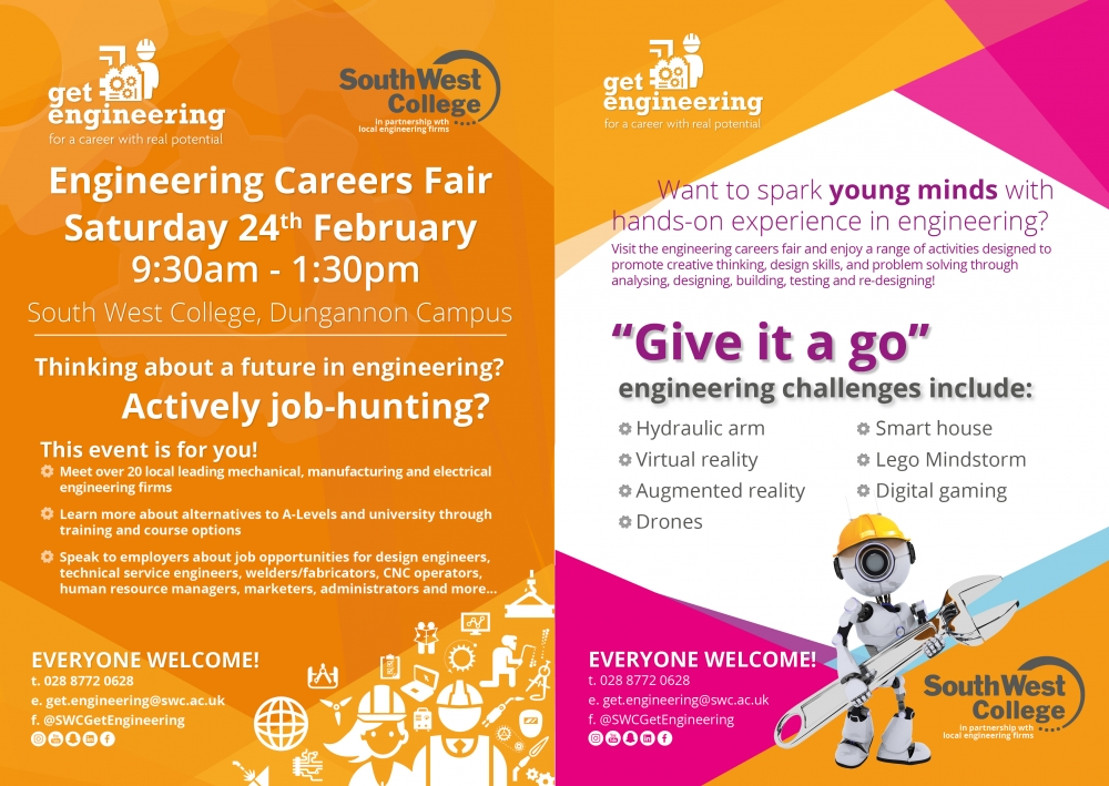 Engineering Careers Fair event, Sat 24th Feb!