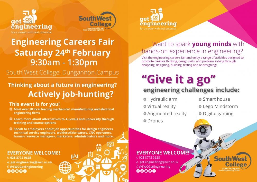 Engineering Careers Fair event, Sat 24th Feb!
